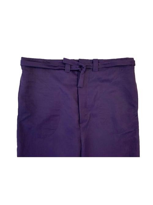 Image of FOS Trousers - Viscose- Dark Purple
