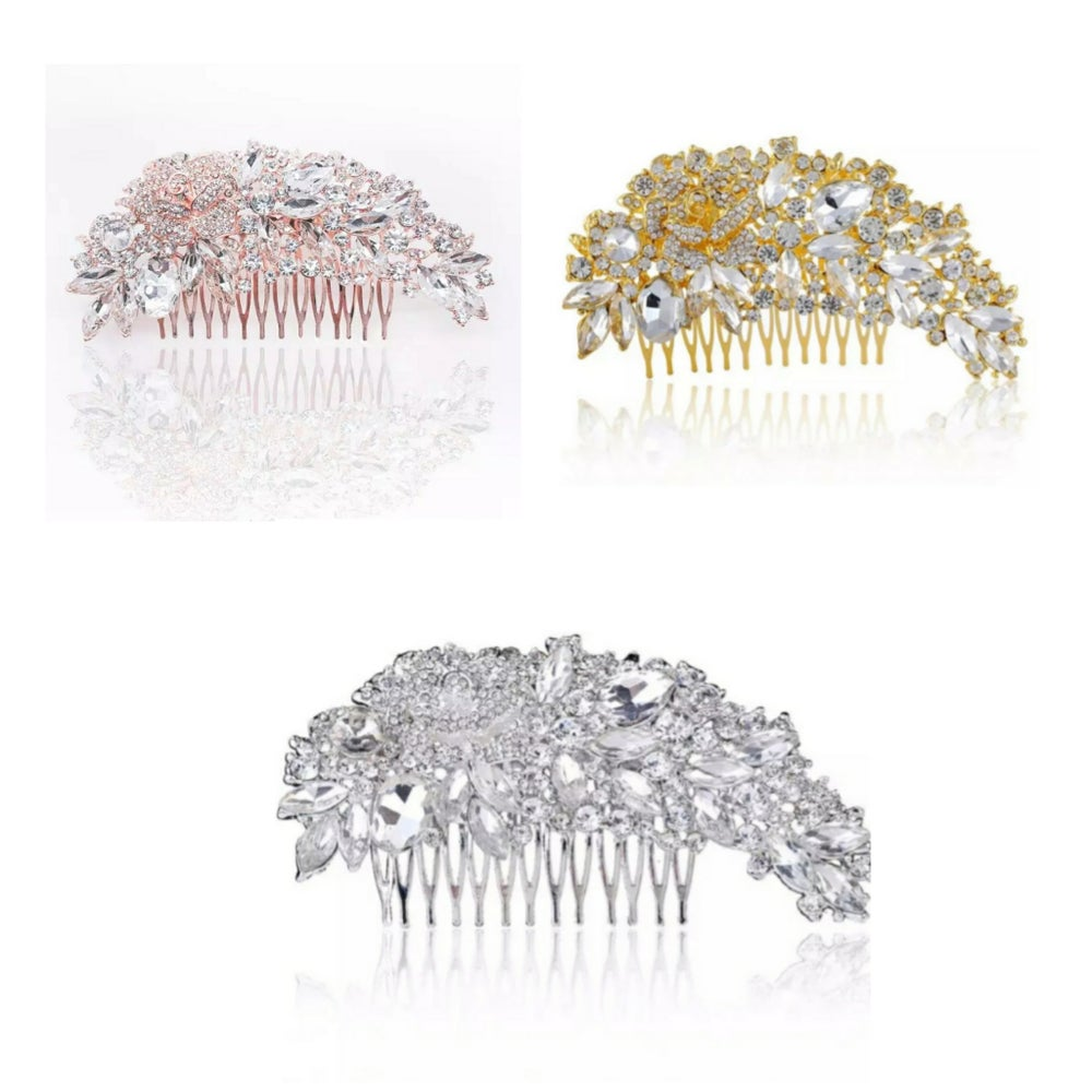 """""""Laura"""" Haircomb ( available in Rosegold, Gold & Silver)"""