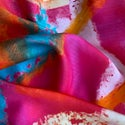 Satin Silk Scarf - Bright Jewels