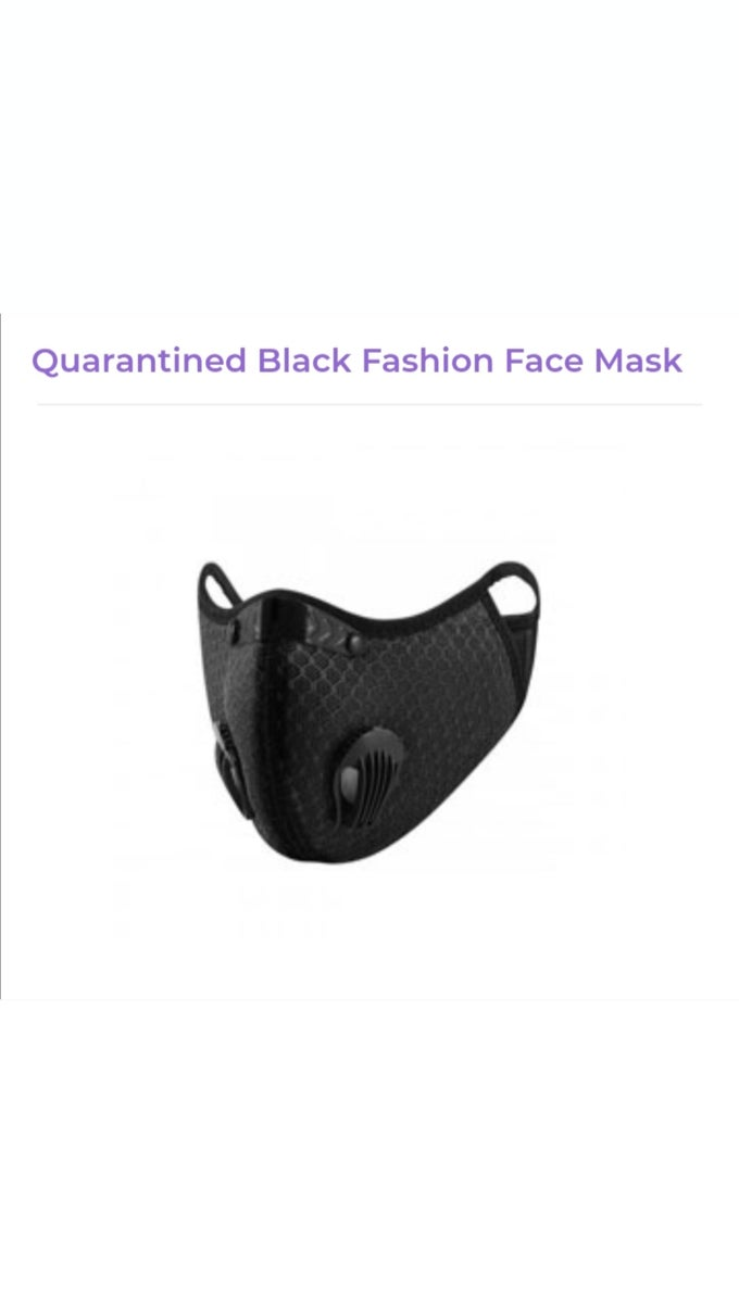 Image of Quarantined Black Fashion Face Mask