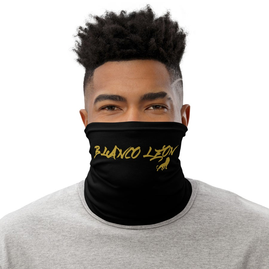Image of Black and Gold Face Mask - Unisex (Gaiter)