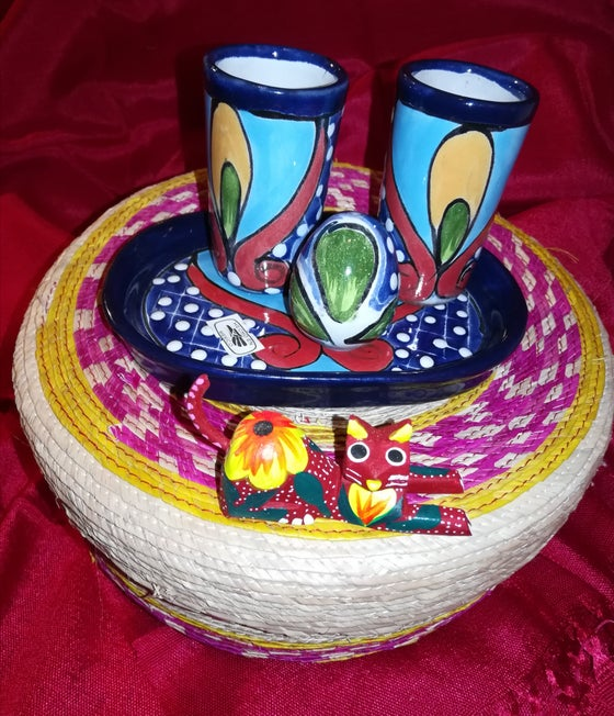 Image of Gift basket Talavera shot glass