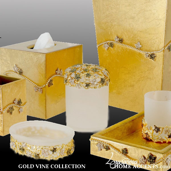 Image of Luxury Gold Bathroom Accessories Gold Vine Collection