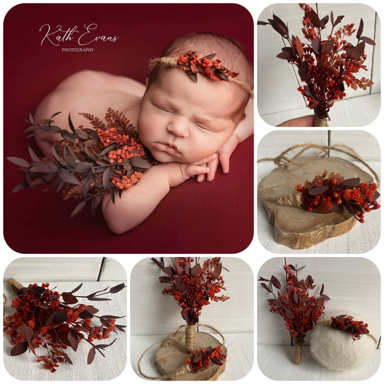 Image of Red eucalyptus bouquet and tieback
