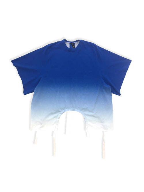 Image of Shift Blouse - Organic Jersey - Blue Gradient