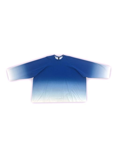 Image of OF1 Blouse - Organic Jersey - Blue Gradient