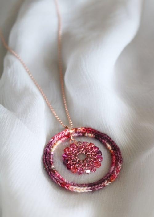 Image of CIRCLES Pendant - Pomegranate