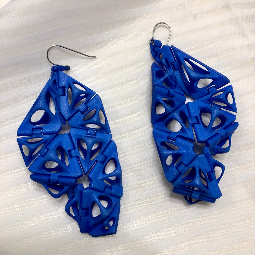 Blue Wings Earrings