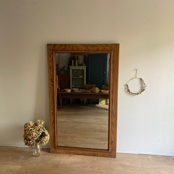 Image of Grand miroir en bois #115