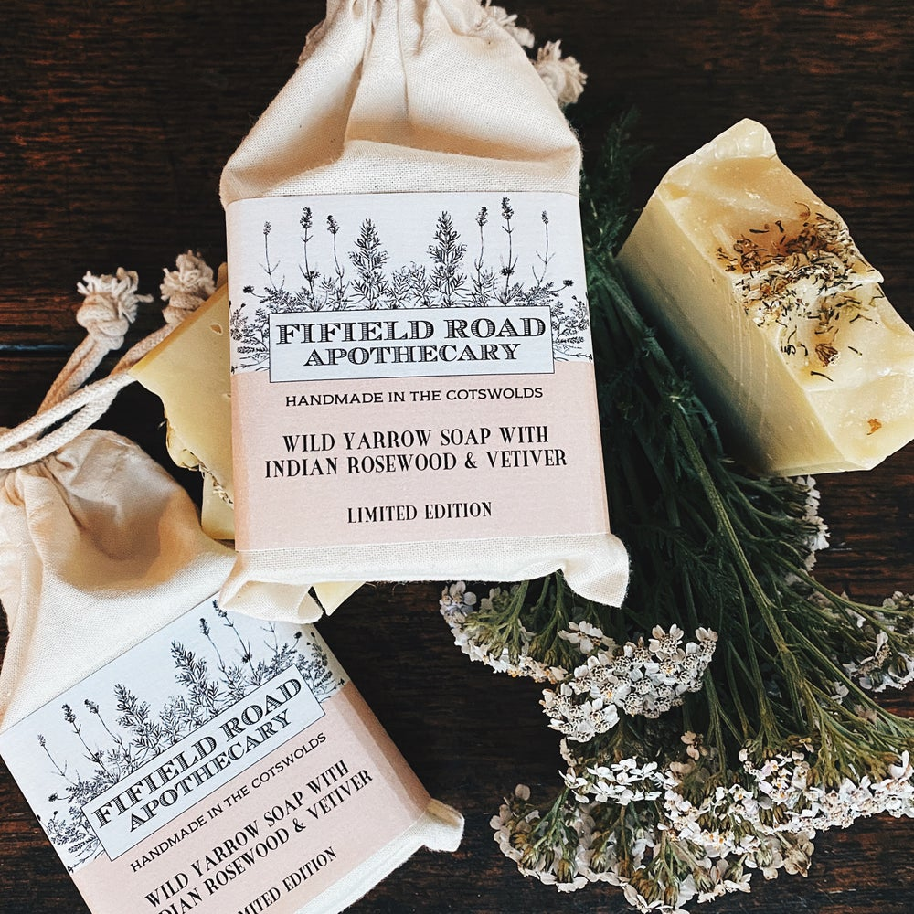 Image of LIMITED EDITION WILD YARROW SOAP WITH INDIAN ROSEWOOD & VETIVER