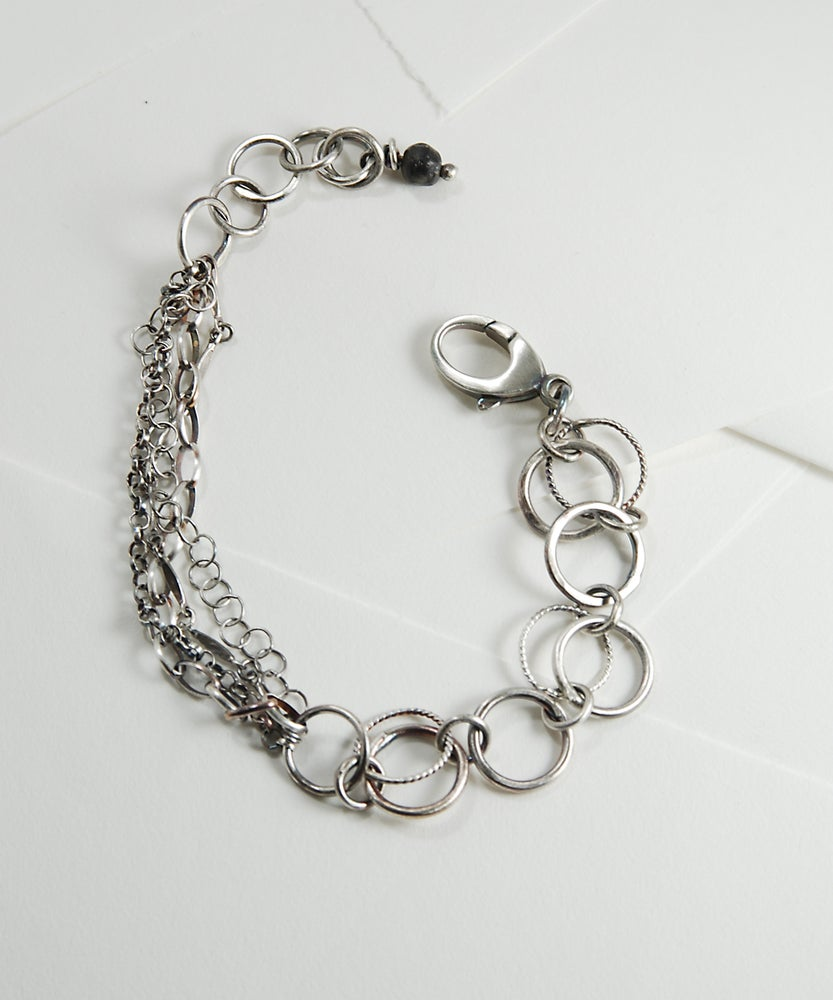 Image of Hand Made Sterling Silver Link Bracelet