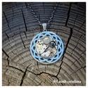 Collier spirale Labradorite hématite