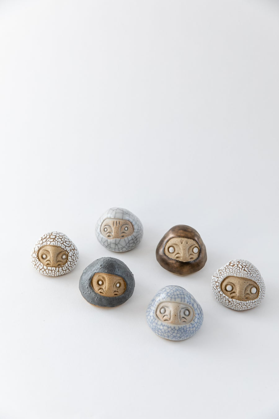 Image of Mini Daruma Wishing Dolls - Neutral