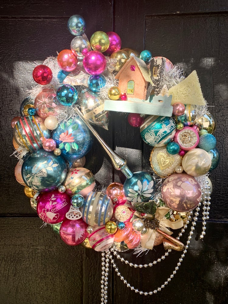 Image of Pink Frost Wreath