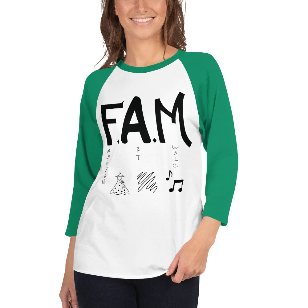 Image of F.A.M. 3/4 sleeve raglan shirt