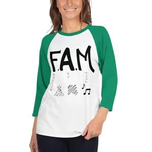Image of F.A.M. 3/4 sleeve raglan shirt