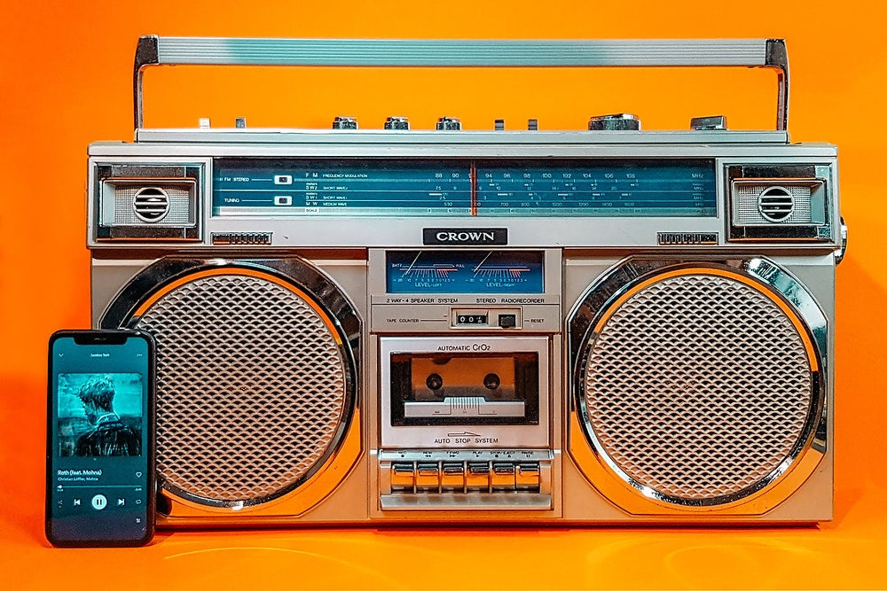 Image of CROWN CSC-948F (1980) BLUETOOTH BOOMBOX