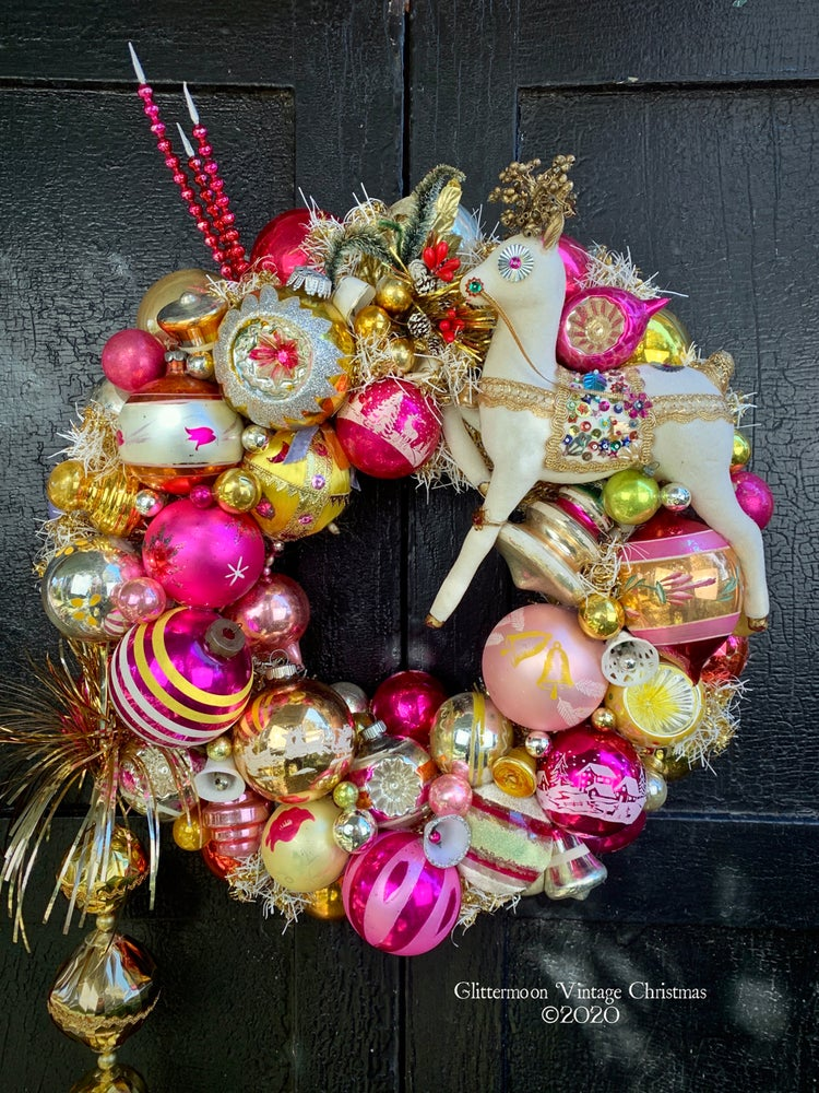Image of Carousel Reindeer Wreath