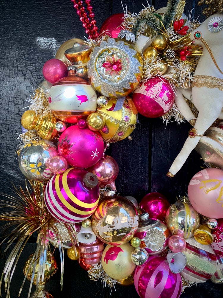 Image of Carousel Reindeer Wreath