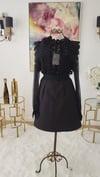 Lace Bodice Sheer Sleeve Dress