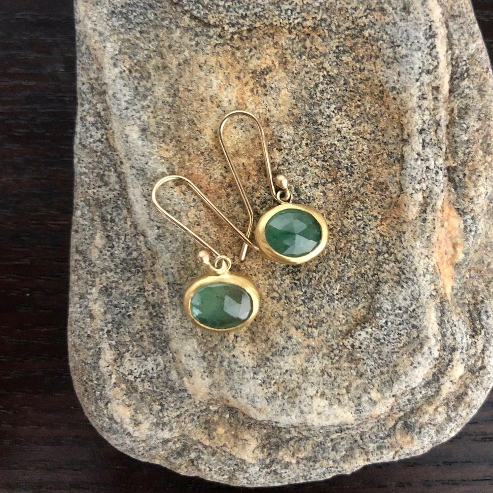 Image of Little Colombian Emerald earrings