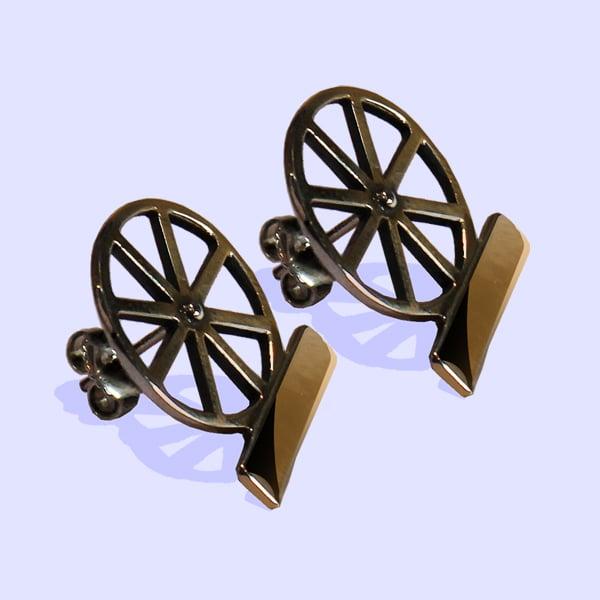 Image of Bicycle Wheel Earrings