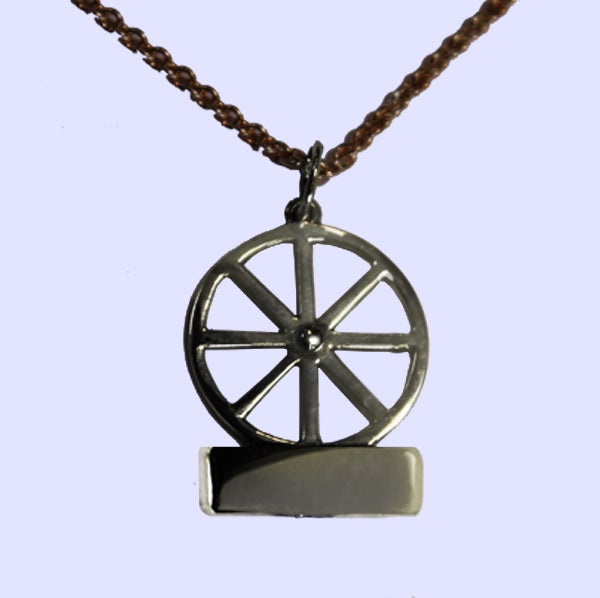 Image of Bicycle Wheel Necklace