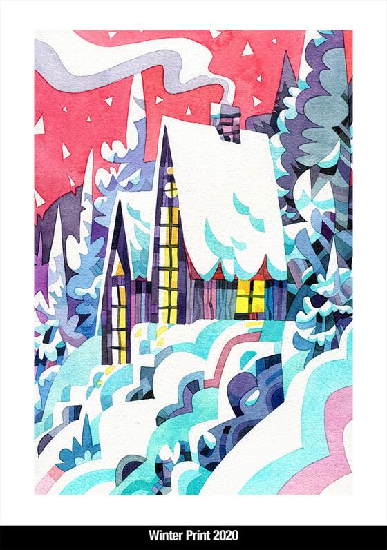 Image of Winter pearlescent mini prints