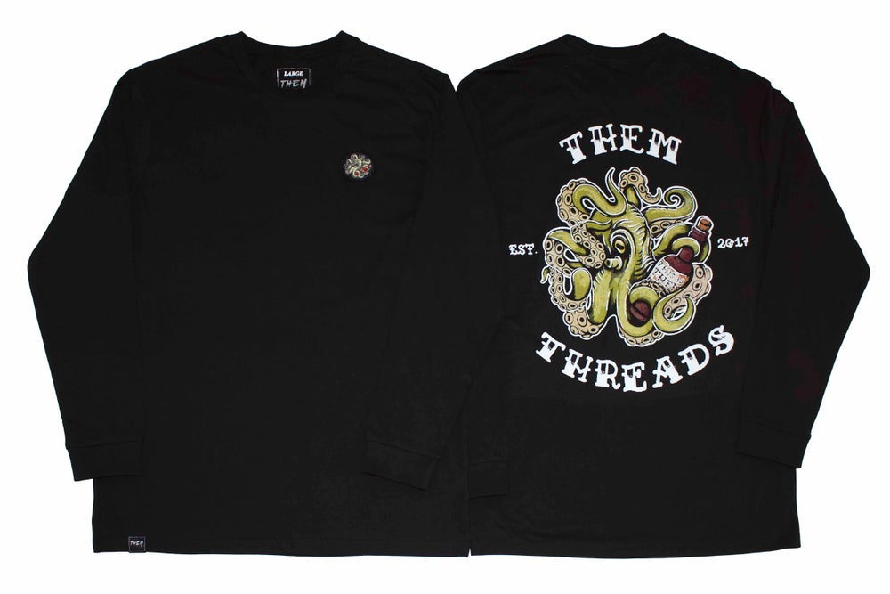 Image of Calamari Long Sleeve - Black