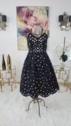 Flare Black Lace A-Line Dress