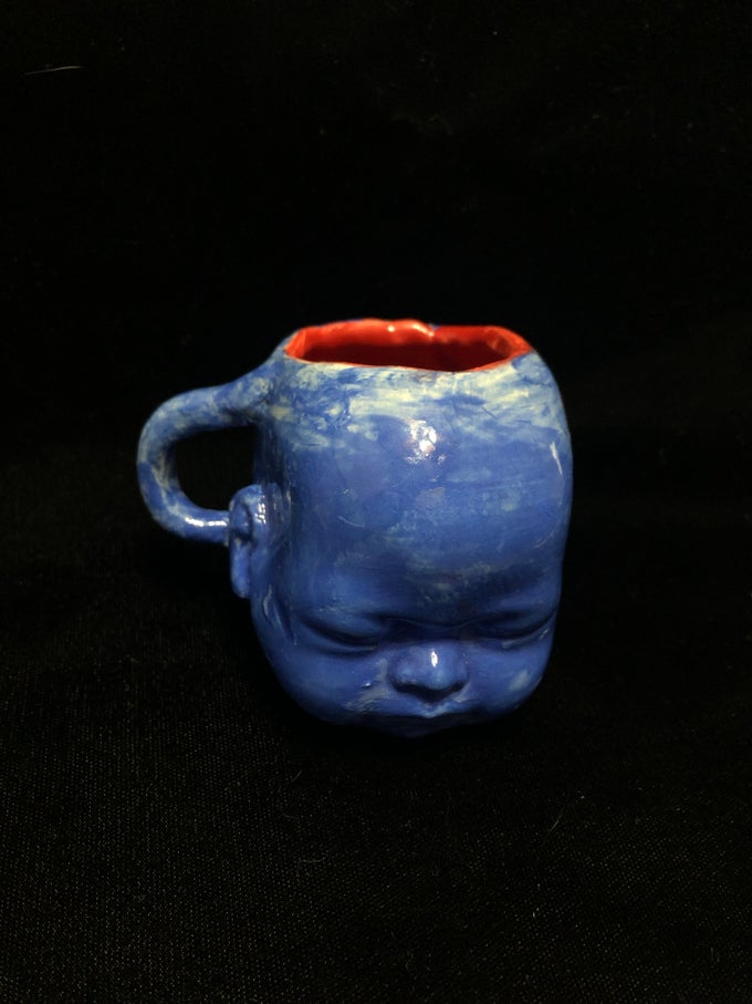 Image of Blue Babyhead Ceramic cup