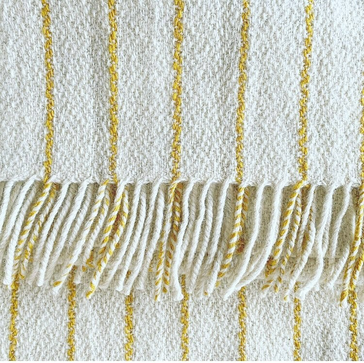 Image of SPECIAL EDITION: White Bristol Cloth Scarf + Blanket Scarf