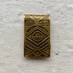 Image of etched brass money clip I