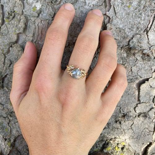 Image of Grey Diamond Cluster Ring