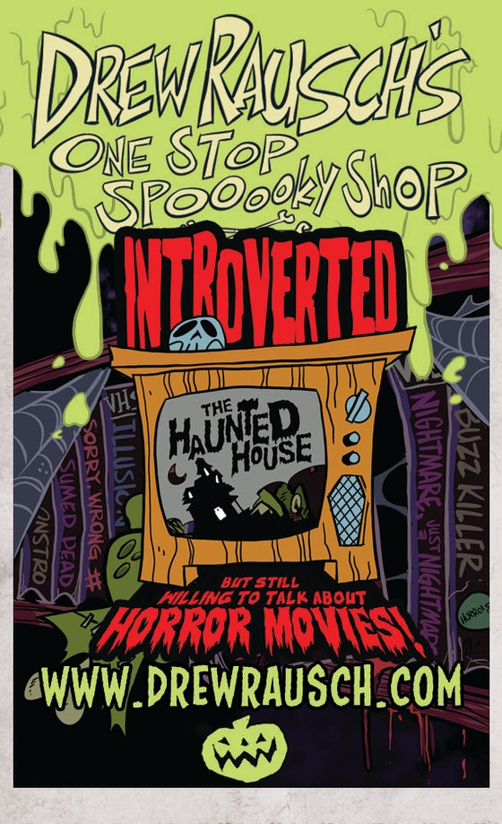 Image of Introverted But Still Willing to Talk About Horror Movies Enamel Pin