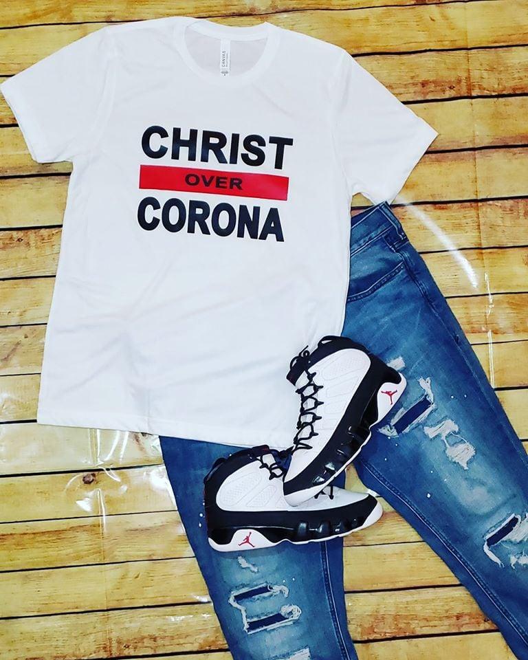Image of  Christ Over Corona - White