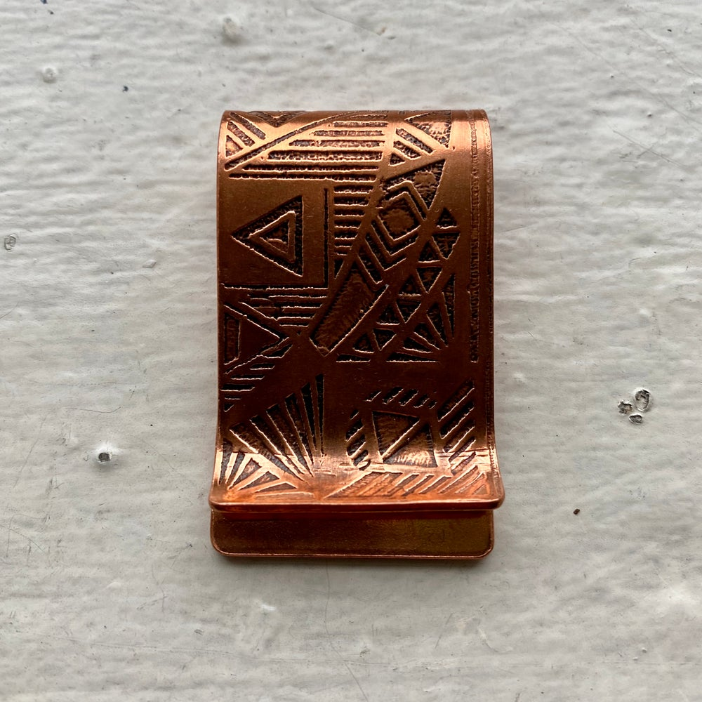 Image of copper money clip III