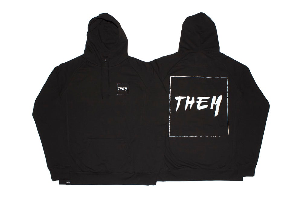 Image of Block Hoodie - Black/White