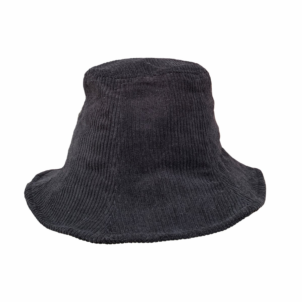 Image of Corduroy Bucket Hat. Black.(was £23 now £18.40)