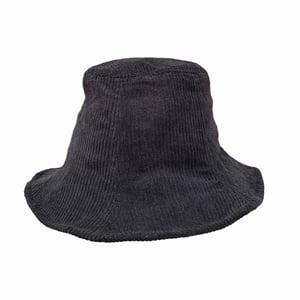 Image of Corduroy Bucket Hat. Black.