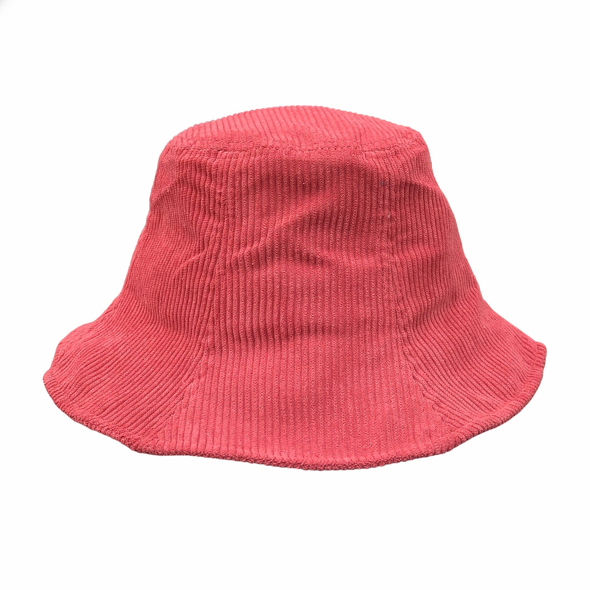Image of Corduroy Bucket Hat. Coral (was £23 now £18)