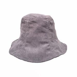 Image of Corduroy Bucket Hat. Grey (was £23 now £18.40)