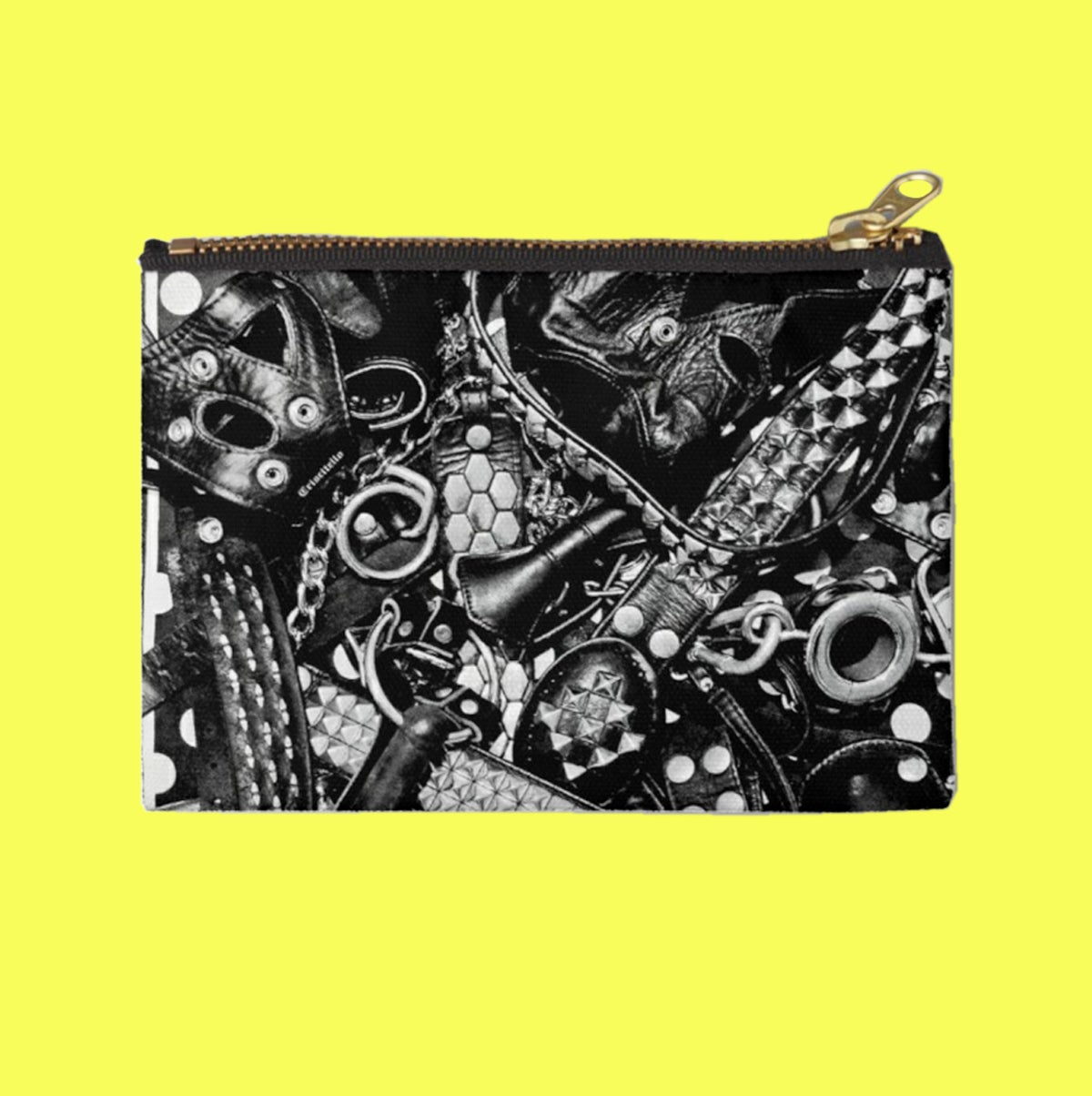 Image of Leather Print Zipper Pouch