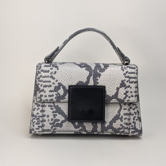 Image of  BERRY MINI HANDBAG - Grey Python Embosed