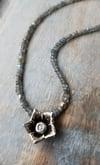 Lotus Flower + Labradorite Necklace