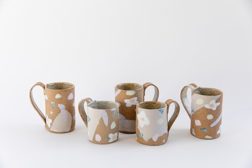 Image of Candy Pastel Flowers on Toasty Clay - Tall Mug