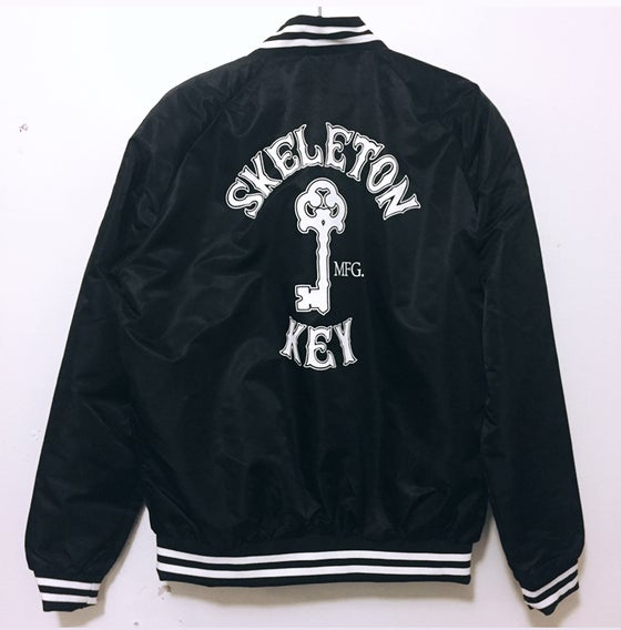 Image of Black Bomber varsity Jacket