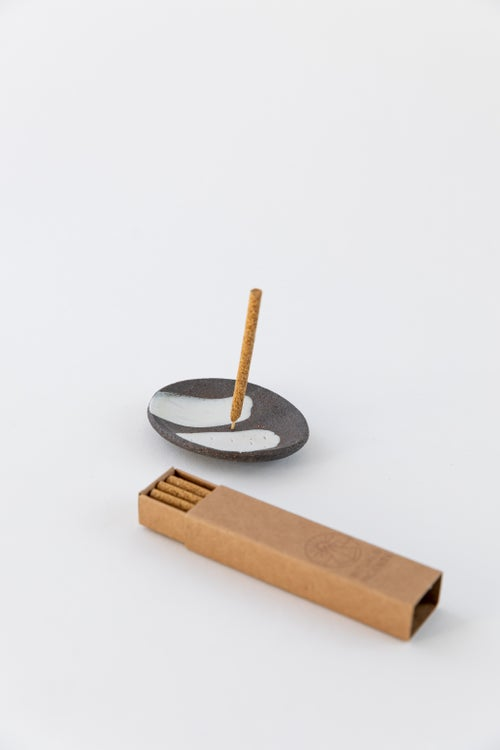 Image of Simple Black and white Incense Holder