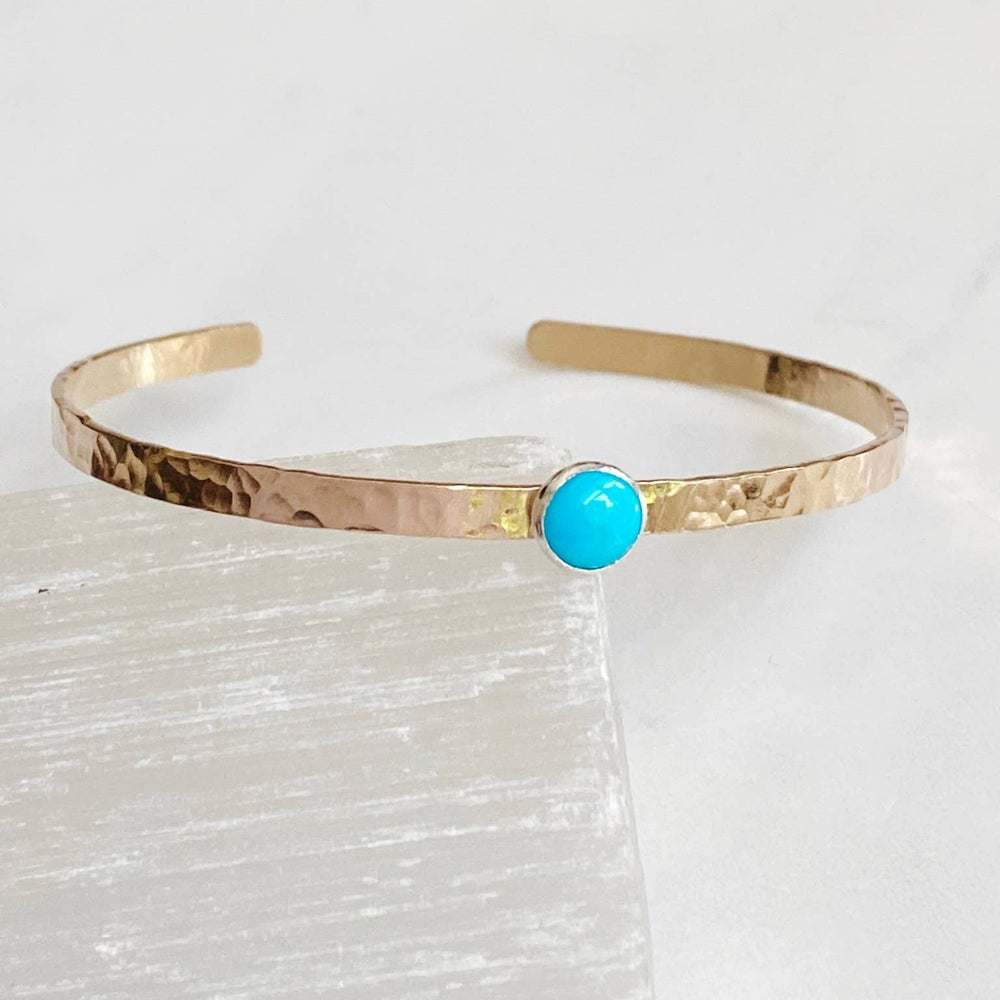 Image of Hammered Turquoise Cuff