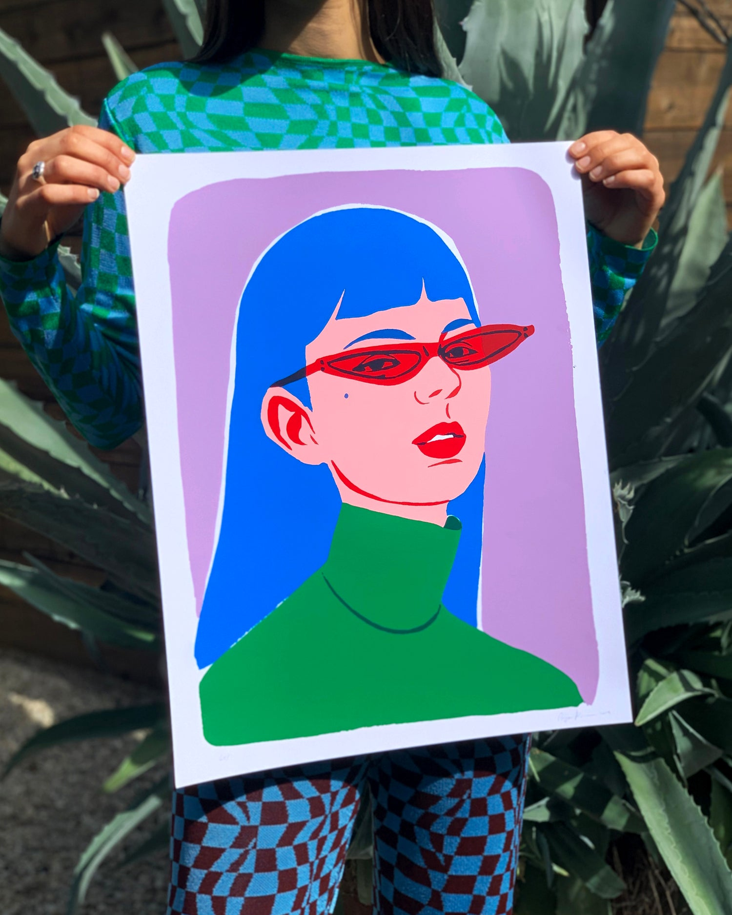 Image of Red Glasses Screen Print